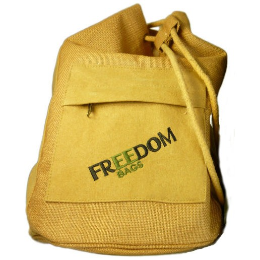Yellow Canvas Sling Bag